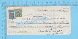 Sherbrooke, Cheque, 1948 ( $155.71, Asbestos Electric Service Reg, B.C.D.C.  Stamp  #249 & #255 ) P. Quebec 2 SCANS - Chèques & Chèques De Voyage