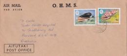 Aiututaki 1979  Shells On Cover Sent To Australia - Aitutaki