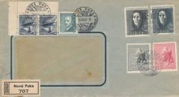 I4935 - Czechoslovakia (1947) Nova Paka: VPK (logo), Exhibition region under the Giant Mountains