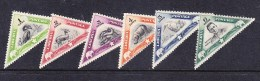 Liberia 1937 Zoologicals Triangles Set Mint Hinged - Liberia