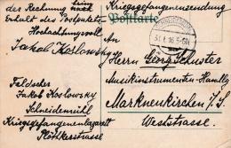 Prisoner Of War Mail From A Doctor (Feldcher) In POW Hospital Schneidemühl - Kriegsgefangenenlazarett P/m Schneidemühl 3 - Militares