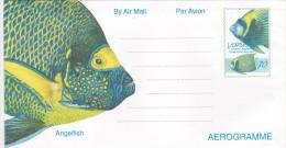 Vanuatu Angelfish Aerogramme Mint - Vanuatu (1980-...)