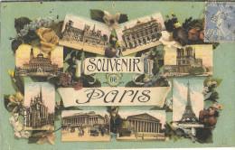 75 - SOUVENIR DE PARIS - MULTIVUES  318 - France