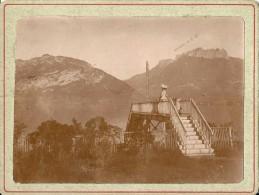 74 HAUTE SAVOIE SERVIER PHOTOGRAPHIE  PASSERELLE  SUR LA VOIE FERREE SERVIER 1912 12.4 X 9.4 - Lieux