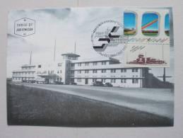 Israel 1040 Maximumkarte MK/MC, ESST, TAB, 50 Jahre Ben-Gurion-Flughafen. - Cartoline Maximum