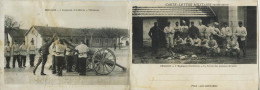 11598 - Doubs - BESANCON : CARTE DOUBLE - 4éme Régt D´Artillerie La Corvée De PDT - L´Abattage  Circulée 1915 - Besancon