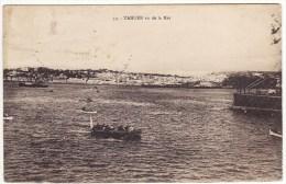 Carte Postale Tanger Vu De La Mer Maroc Timbre 10c - Tanger