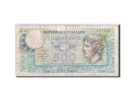 Italie, 500 Lire, Type Mercury - 500 Lire