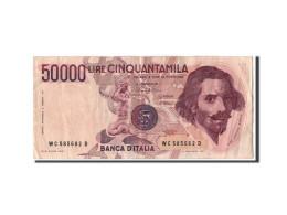 [#304078] Italie, 50 000 Lire Type Bernini - [ 2] 1946-… : République