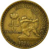 Monnaie, Monaco, Louis II, Franc, 1924, Poissy, TTB, Aluminum-Bronze, KM:111 - Monaco