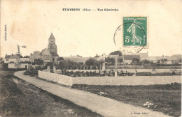 60 - ETAVIGNY - Vue Générale ---- Eolienne - Cimetière - église - France
