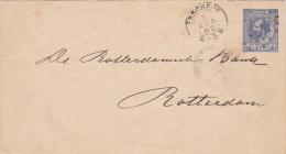 Envelop 5c WIII 3 Aug 1889 Enschede (kleinrond En Puntstempel) - Poststempels/ Marcofilie