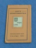Carte Départementale Scolaire - Éditions André Lesot - Le Maine Et Loire - Landkarten