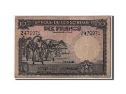 [#306455] Congo Belge, 10 Francs Type 1941-50 - [ 5] Belgisch Kongo