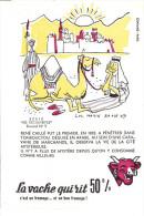 Buvard Vache Qui Rit  Série Découverte N°9 - Produits Laitiers