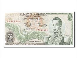 [#255957] Colombie, 5 Pesos Oro, Type José Maria Cordoba - Colombie