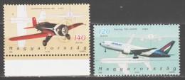 Hungary 2006 Ungarn Mi 5069-5070 History Of Hungarian Aviation / Geschichte Der Ungarischen Luftfahrt **/ MNH - Vliegtuigen