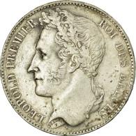 Monnaie, Belgique, Leopold I, 5 Francs, 5 Frank, 1848, TTB+, Argent, KM:3.2 - 11. 5 Francos