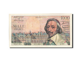 [#204748] 1000 Francs Type Richelieu, 07 Janvier 1954, Fayette 42.4 - 1871-1952 Circulated During XXth