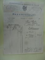 Manufacture De Chapeaux De Paille Rey Cousins Caussade Tarn Garonne 1926 - Textile & Vestimentaire