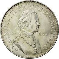 Monnaie, Monaco, Rainier III, 50 Francs, 1974, SUP+, Argent, KM:152.1 - 1960-2001 Nouveaux Francs