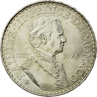 Monnaie, Monaco, Rainier III, 50 Francs, 1974, SUP+, Argent, KM:152.1 - Monaco