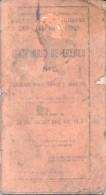 ITINERARIO DE TRENES - FERROCARRIL NACIONAL GENERAL BELGRANO AÑO 1952 SEGUNDA PRESIDENCIA DEL GENERAL PERON - Geography & Travel