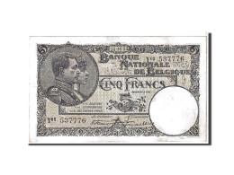 [#111121] Belgique, 5 Francs Type 1922-26 - 5 Francs