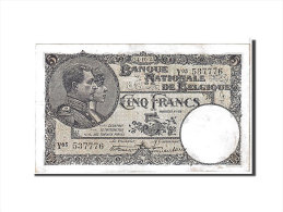 [#111121] Belgique, 5 Francs Type 1922-26 - [ 2] 1831-... : Belgian Kingdom