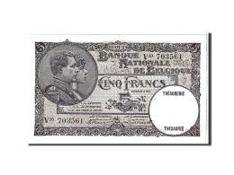 Belgique, 5 Francs Type 1922-26 - [ 2] 1831-... : Belgian Kingdom