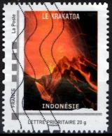 FRANCE Montimbramoi personalized stamp  - Volcano Volcan mountain Berg monta�a montagna Krakatoa Indonesia