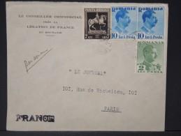 ROUMANIE - Enveloppe  Commerciale  Pour La France En 1939   LOT P4163 - 1918-1948 Ferdinand, Charles II & Michael