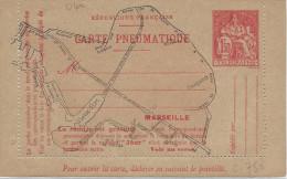Pneumatique, Entier Carte Lettre De Marseille ( Chaplin ) Ref: 04a - Rohrpost