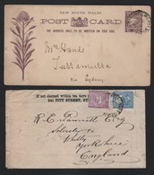 NEW SOUTH WALES RAILWAY TRAVELLING POST OFFICES SOUTH STATIONERY - Australia