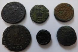 LOT DE 6 MONNAIES ROMAINES A DEFINIR - 6. La Tetrarchia E Costantino I Il Grande (284 / 307)