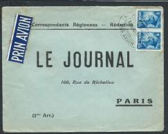 """ROUMANIE- Enveloppe Commerciale  De Journal    Obl  """" Par Avion"""" Pour Paris En 1933  LOT P4178 - 1918-1948 Ferdinand, Charles II & Michael"""
