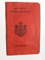 PASSAPORTO  PASSPORT    REISEPASS  1930.   KINDOM  SHS   CROATIA SLOVENIA SERBIA    -  MURSKA  SOBOTA   - VISA TO CANADA - Historical Documents