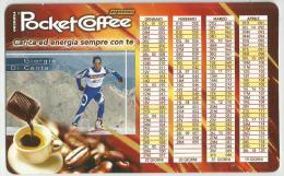 CALENDARIETTO PLASTIFICATO  PUBBLICITARIO - POCKET COFFEE -FERRERO - Formato Piccolo : 1981-90