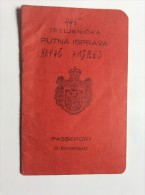 PASSEPORT D'EMIGRANT  PASSPORT REISEPASS  1928. KINDOM OF  SHS  CROATIA SLOVENIA SERBIA  - SKOFJA LOKA  - VISA TO CANADA - Historical Documents