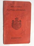 PASSEPORT D'EMIGRANT  PASSPORT REISEPASS  1928. KINDOM OF  SHS  MURSKA SOBOTA      VISA TO: CANADA  - Documents Historiques