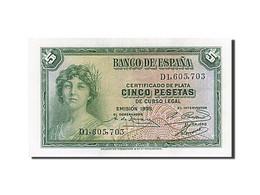 Espagne, 5 Pesetas, Type 1935 - [ 2] 1931-1936 : République