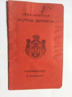 PASSEPORT D´EMIGRANT  PASSPORT REISEPASS  1928. KINDOM OF  SHS  KRSKO KRŠKO     VISA TO: CANADA , FRANCE - Historical Documents