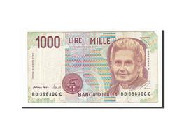 Italie, 1000 Lire Type Montessori - [ 2] 1946-… : République