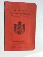 PASSEPORT D´EMIGRANT  PASSPORT REISEPASS  1927. KINDOM OF  SHS ČRNOMELJ  CRNOMELJ    VISA TO: CANADA - Historical Documents
