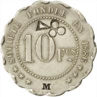 """Châlons-sur-Marne, Société De Consommation, 10 Francs """"M"""", Contremarqué, Elie 25 - Monetari / Di Necessità"""