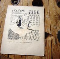 DESSIN  ANCIEN  DE PEYNET   32X24 CM   A  VOIR - Vieux Papiers