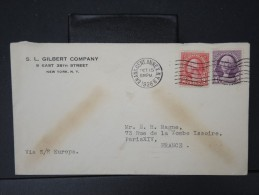 ETATS UNIS -  ARCHIVE DE 48 Enveloppes De New York Pour Paris Période 1930/38 Toutes Par Bateau A étudier  P4185 - Etats-Unis