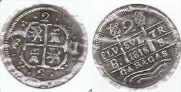 VENEZUELA CARACAS FERNANDO VII 2 REALES 1818 - Venezuela