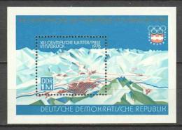 Germany DDR 1975 Mi Block 43 MNH OLYMPICS - Winter 1976: Innsbruck