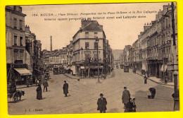 ATTELAGE DE CHIEN (à Gauche) - TRAMWAY TRAM – PLACE ST-SEVER & LA RUE LAFAYETTE * Circ. 1918 * ROUEN 790 - Rouen